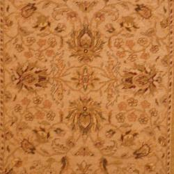 Herat Oriental Indo Hand-knotted Vegetable Dye Wool Rug (4'2 x 5'10) - Thumbnail 1