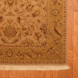 Herat Oriental Indo Hand-knotted Vegetable Dye Wool Rug (4'2 x 5'10) - Thumbnail 2