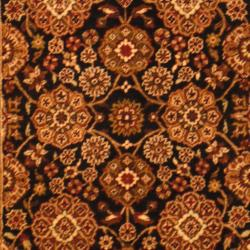 Indo Hand-knotted Mahal Black/ Burgundy Wool Rug (3'9 x 6') - Thumbnail 1