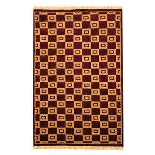 Herat Oriental Indo Hand-knotted Tibetan Wool Rug (4' x 6')