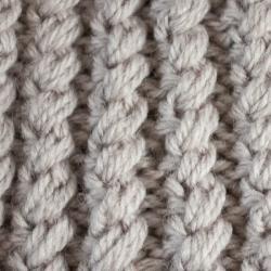 Leisureland Hand-crocheted Tan Acrylic Beanie Hat - Thumbnail 1