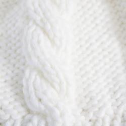 Leisureland Hand-crocheted White Acrylic Beanie Hat - Thumbnail 1