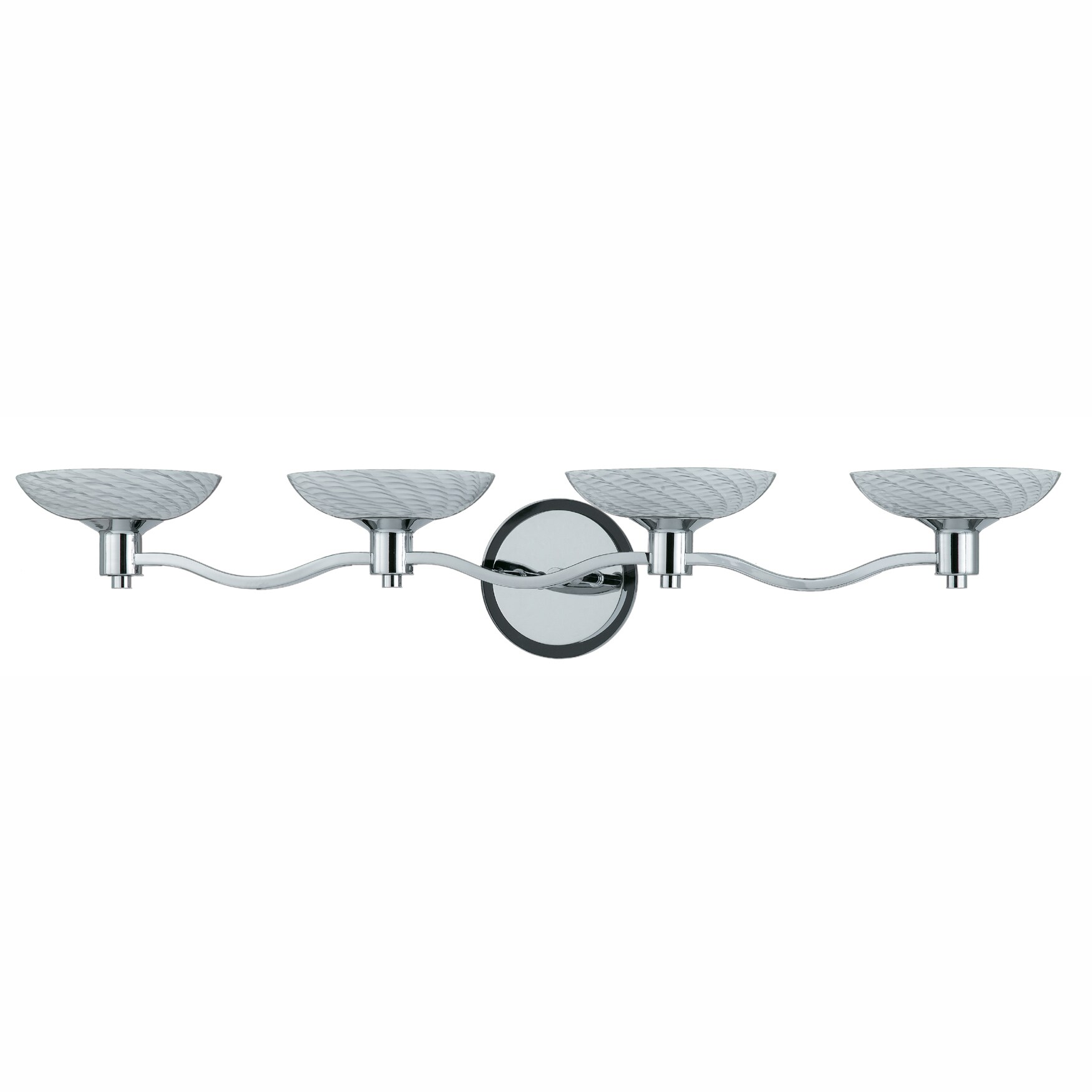 Contemporary 4-light Bath Vanity in Polished Chrome