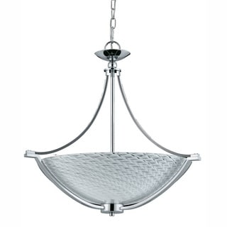 Contemporary 4-light Polished Chrome Pendant