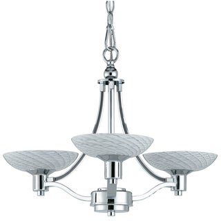 Contemporary 3-light Polished Chrome Chandelier