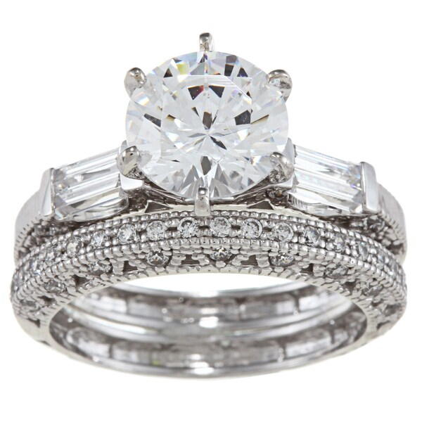 Shop Alyssa Jewels 14k White Gold 2 1 2ct Tgw Clear Cubic Zirconia