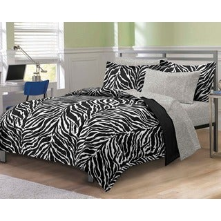 Zebra Print Bed in a Bag with Sheets Set