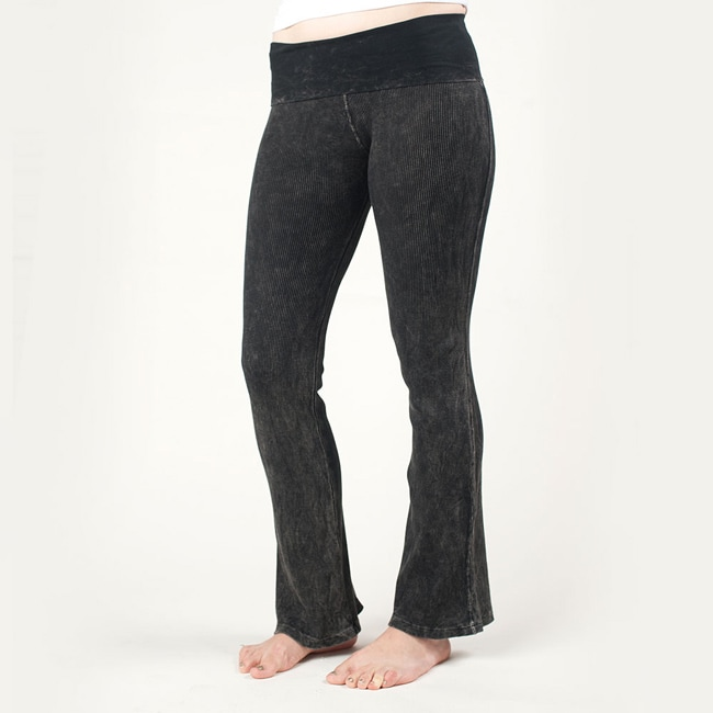 Tabeez Women's Black Stretch Yoga Pants - Thumbnail 0