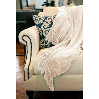 Susan Luxury Chenille Throw with Fringe