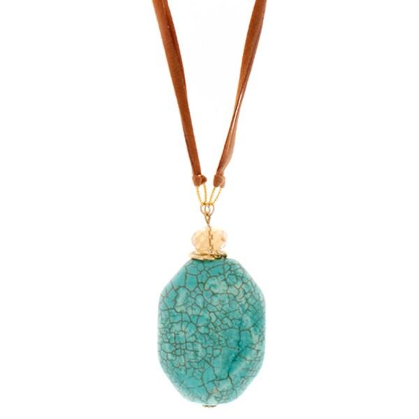 Nexte Jewelry Genuine Turqoise Pendant