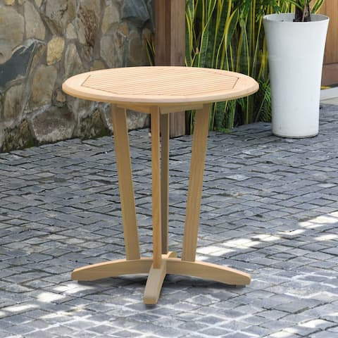 Tottenville Teak Round Bistro Table by Havenside Home