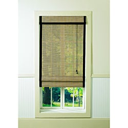Lewis Hyman Bamboo Natural/ Black Roman Shade