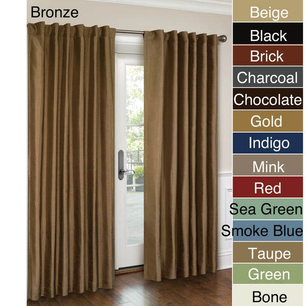 VCNY Interlined Faux Silk Rod Pocket 84-inch Curtain Panel