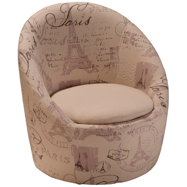 Manuel Beige Printed Fabric Chair by Christopher Knight Home