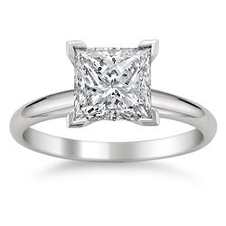 Montebello 14k White Gold 2ct TDW Princess Cut Solitaire Diamond Ring (G-H, SI1-SI2)