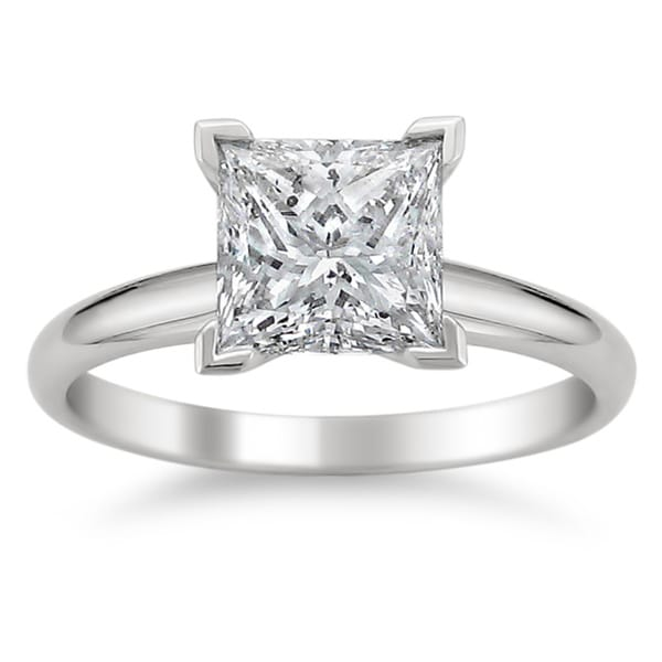 Montebello 14k White Gold 1 1/4ct TDW Diamond Solitaire Engagement Ring (G-H, SI1-SI2)