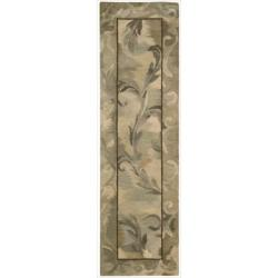 Nourison Hand-tufted Reflections Beige Wool Rug (2'3 x 8)