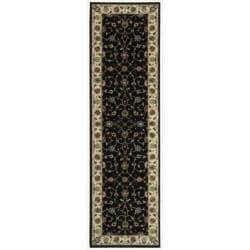 Nourison Persian Arts Black Rug (2'3 x 8') - 2'3 x 8' - Thumbnail 0