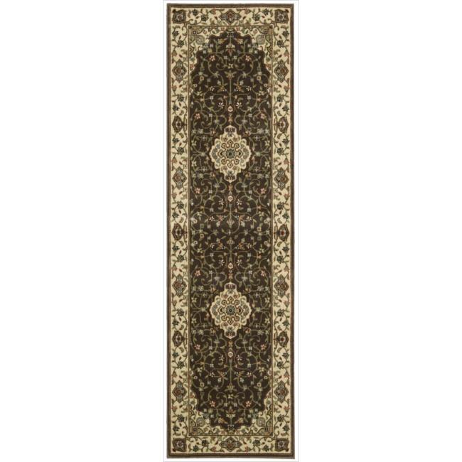 "Nourison Persian Arts Brown Polyacrylic Rug (2'3"" x 12')"