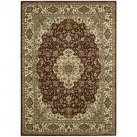 "Traditional Nourison Persian Arts Burgundy Rug (5'3"" x 7'5"") - 5'3 x 7'5"