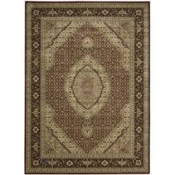 Nourison Persian Arts Burgundy Rug - 9'6 x 13' - Thumbnail 0
