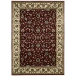 "Nourison Persian Arts Burgundy Polyacrylic Rug (9'6"" x 13')"
