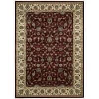 "Nourison Persian Arts Burgundy Polyacrylic Rug (9'6"" x 13') - 9'6 x 13'"