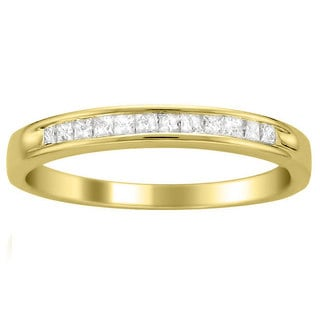 Montebello 14k Yellow Gold 1/4 ct TDW Princess Cut Diamond Channel Set Wedding Band (I-J, I2-I3)