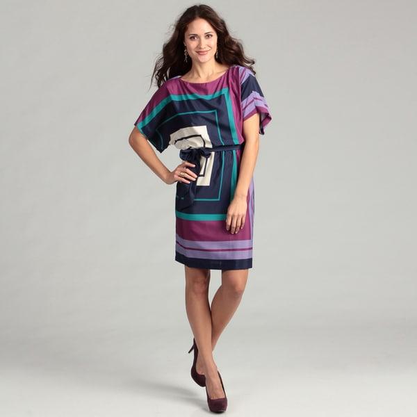 Jessica Howard Women's Purple Geometric Dress FINAL SALE