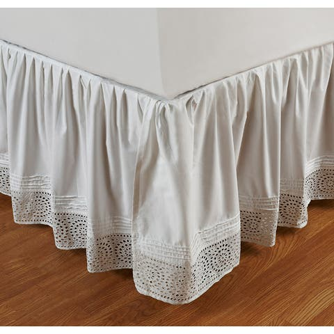 Ruffled Cutwork 18-inch Bedskirt
