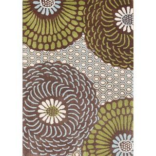 Alliyah Handmade Friar Brown New Zealand Blend Wool Rug (5' x 8')