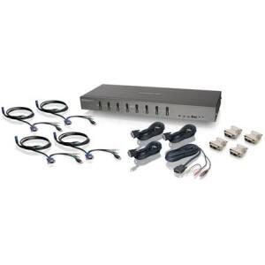 IOGEAR 8-Port DVI KVMP switch with VGA support and USB KV