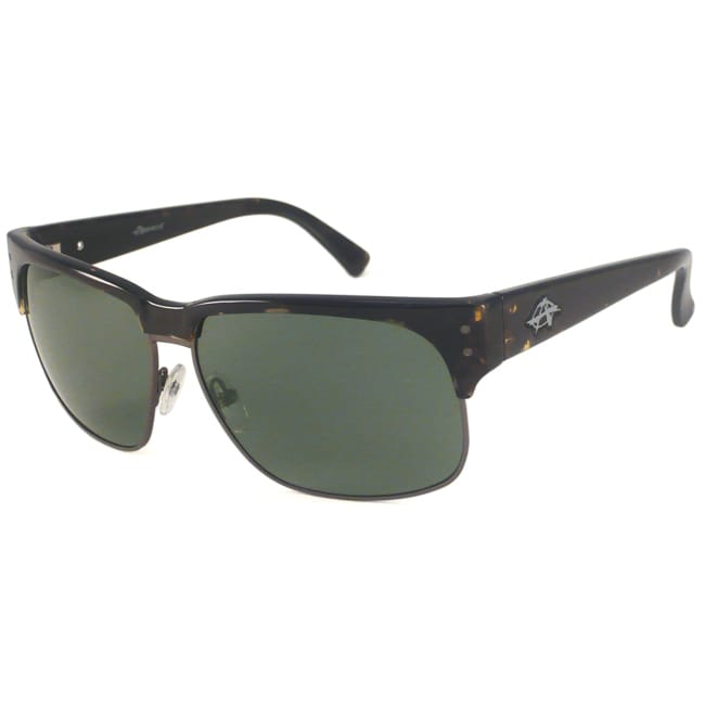 Anarchy Men's Sovereign Polarized Rectangular Sunglasses