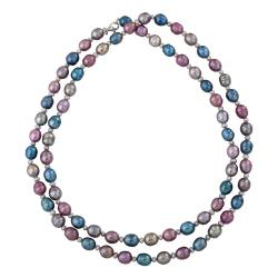 Multi-colored Freshwater Pearl 36-inch Necklace (7 mm)
