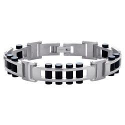 Titanium Men's Black Link Bracelet