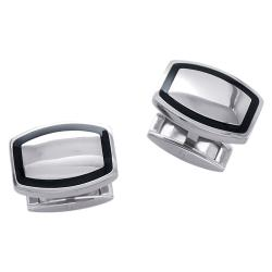 Titanium Men's Black Ceramic Cuff Link