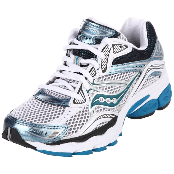 Saucony Women's ProGrid 'Omni 10' White/ Blue Athletic Shoes
