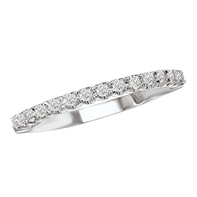 Avanti 14k White Gold Women's 1/4ct TDW Diamond Wedding Band Size 6 (G-H, SI1-SI2) - Thumbnail 0