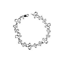 Bridal Symphony Sterling Silver Diamond Accent Butterfly Bracelet (I-J, I2-I3)