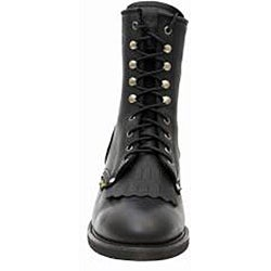 AdTec by Beston Men's Black Leather Packer Boots- Wide - Thumbnail 2