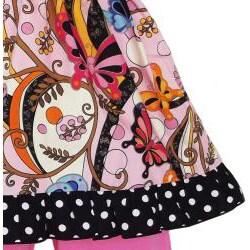 AnnLoren Girls' 2-piece Butterfly/ Dot Outfit - Thumbnail 1