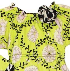 AnnLoren Girls' 2-piece Floral Vine/ Zebra Outfit - Thumbnail 1