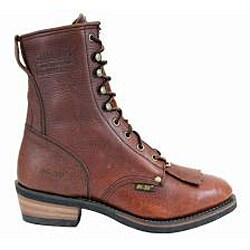 AdTec by Beston Men's Leather Steel-toe Packer Boots- Wide