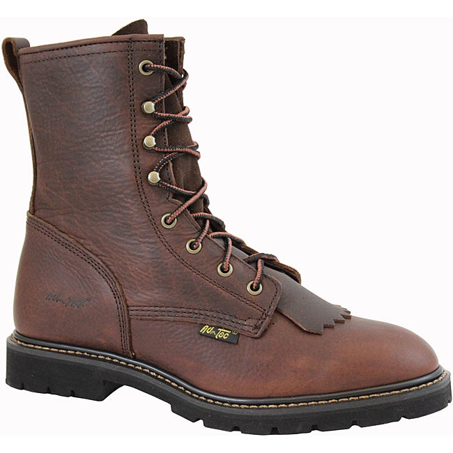 AdTec by Beston Men's Chestnut Leather Packer Boots- Wide