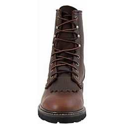 AdTec by Beston Men's Chestnut Leather Packer Boots- Wide - Thumbnail 2