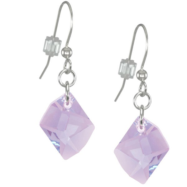 Jewelry by Dawn Violet Cosmic Swarovski Crystal Sterling Silver Earrings