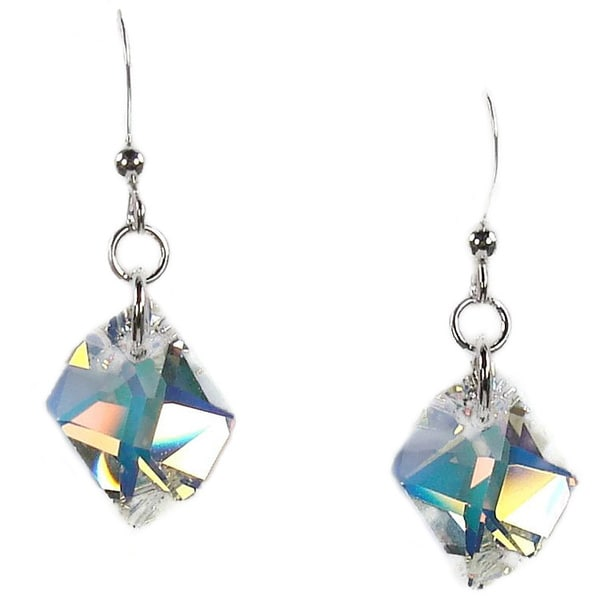 Jewelry by Dawn Sterling Silver Earrings With Crystal AB Cosmic