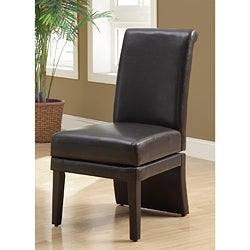 Dark Brown Faux Leather Swivel Chair