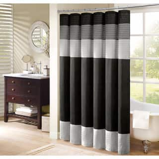 black dark green shower curtain. Madison Park Infinity Pieced Faux Silk Shower Curtain Accessories For Less  Overstock com