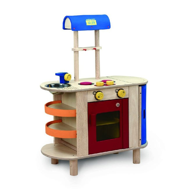 Wonderworld Toys Wooden Cooking Center with Oven, Sink and Fridge